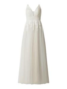 Sukienka Luxuar z dekoltem w kształcie litery v