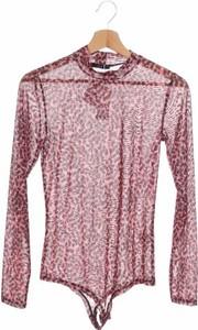 Różowa bluzka Only z długim rękawem z dekoltem w kształcie litery v