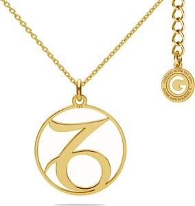 GIORRE SREBRNY NASZYJNIK ZNAK ZODIAKU KOZIOROŻEC 925 : Kolor pokrycia srebra - Pokrycie Żółtym 24K Złotem