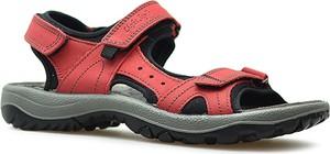 Różowe sandały Imac na rzepy z płaską podeszwą w stylu klasycznym