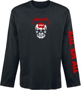 Czarna koszulka z długim rękawem Metallica z bawełny