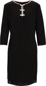 Sukienka Premiera Dona z dżerseju z długim rękawem z okrągłym dekoltem
