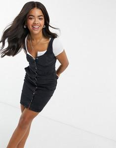 Czarna sukienka Urban Bliss z jeansu na ramiączkach