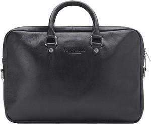 Czarna torba Velorbis ze skóry