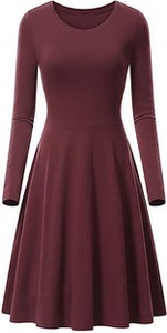 Sukienka Cikelly z długim rękawem w stylu casual midi