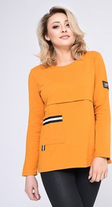 Pomarańczowa bluzka Vitesi z długim rękawem z bawełny