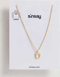 Sinsay - Naszyjnik z literą - Beżowy