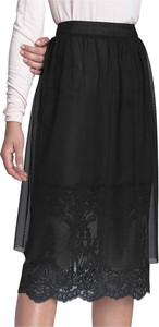 Czarna spódnica Nife midi