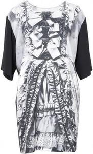 Sukienka Moschino mini z długim rękawem z okrągłym dekoltem