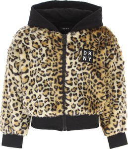 Brązowa kurtka dziecięca DKNY
