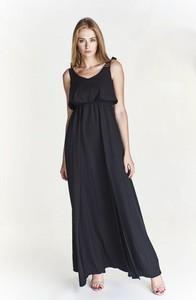 0717dc399c zwiewna czarna sukienka - stylowo i modnie z Allani