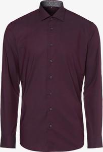 Czerwona koszula Eterna z bawełny