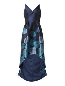 Granatowa sukienka Chi Chi London z dekoltem w kształcie litery v