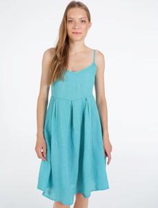 Turkusowa sukienka Unisono mini