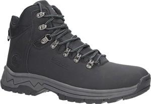 Czarne buty trekkingowe Casu w sportowym stylu