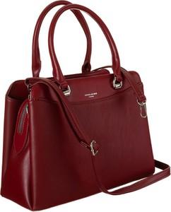 Czerwona torebka David Jones średnia