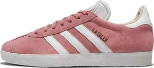 Trampki Adidas Originals z zamszu z płaską podeszwą gazelle
