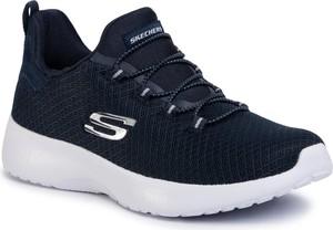 Granatowe buty sportowe Skechers sznurowane