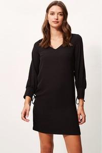 Czarna sukienka Sandro Ferrone w stylu casual z długim rękawem mini