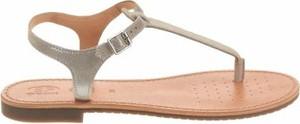 Sandały Geox ze skóry z klamrami z płaską podeszwą
