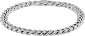 Trendhim Łańcuszkowa bransoletka w srebrnym tonie 6 mm