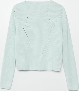 Turkusowy sweter Cropp w stylu casual