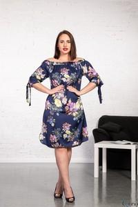 Sukienka tono.sklep.pl z długim rękawem midi