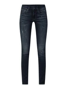 Granatowe jeansy G-Star Raw z bawełny w stylu casual