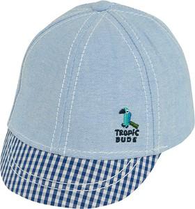 Niebieska czapka Cool Club w krateczkę