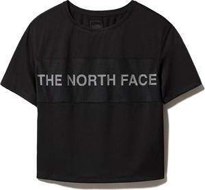 Czarna bluzka The North Face z krótkim rękawem w sportowym stylu