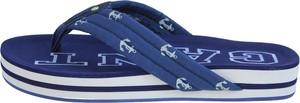 Niebieskie klapki Gant z nadrukiem