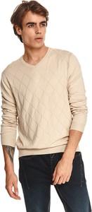 Sweter Top Secret w stylu casual z okrągłym dekoltem