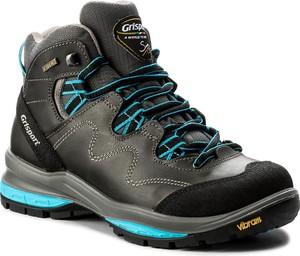 Buty trekkingowe Adidas sznurowane ze skóry z płaską podeszwą