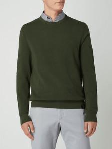 Zielony sweter Lerros w stylu casual z bawełny