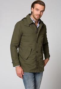 Zielona kurtka LANCERTO z tkaniny w stylu casual