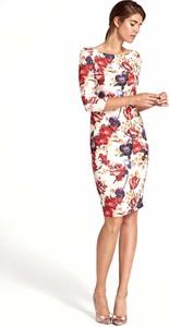 Sukienka Nife z długim rękawem dopasowana midi