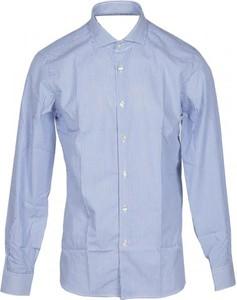 Niebieska koszula Domenico Tagliente z długim rękawem
