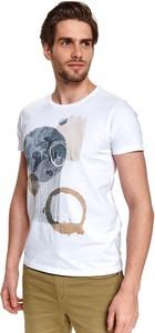 T-shirt Top Secret z krótkim rękawem w młodzieżowym stylu z bawełny