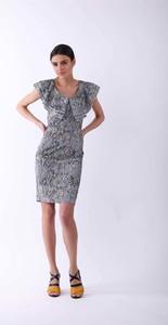 Sukienka Nommo z okrągłym dekoltem w stylu casual