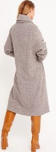 Płaszcz Byinsomnia w stylu casual z tkaniny
