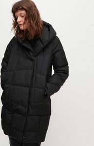 Czarna kurtka Reserved długa w stylu casual
