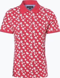 Czerwony t-shirt Franco Callegari w stylu casual z krótkim rękawem