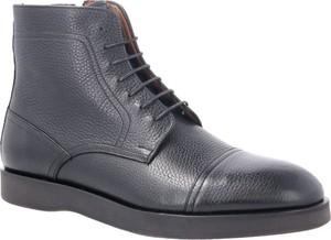 Czarne buty zimowe Boss