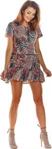 Sukienka Awama mini z krótkim rękawem