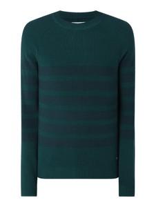 Zielony sweter Tom Tailor Denim z okrągłym dekoltem z bawełny