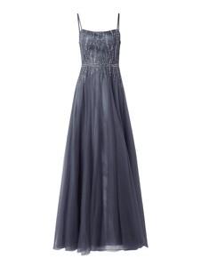 Niebieska sukienka Luxuar z satyny