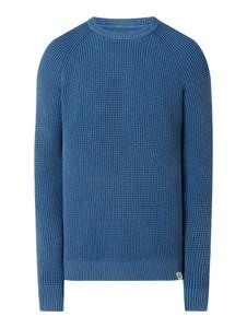 Granatowy sweter McNeal w stylu casual z bawełny