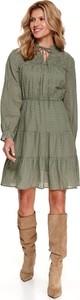 Sukienka Top Secret z długim rękawem w stylu casual mini