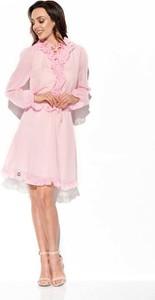Sukienka Lemoniade z długim rękawem mini z żabotem