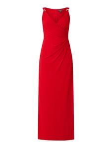 Czerwona sukienka Ralph Lauren maxi z dekoltem w kształcie litery v bez rękawów